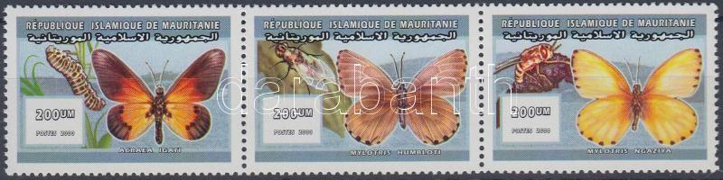 2000 Lepkék hármascsík Mi 1075-1077 a