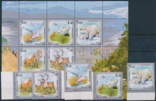 2006 Jakutföld állatvilága ívszéli sor Mi 1372-1376 + blokk Mi 95