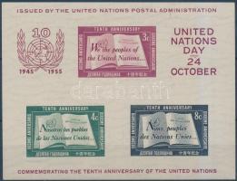 1955 10 éves az ENSZ blokk Mi 1 II