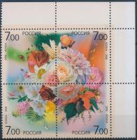 2006 Virágcsokrok ívsarki négyestömb Mi 1348-1351