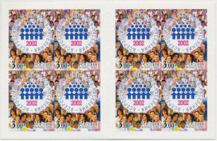 2002 Népszámlálás bélyegfüzet Mi MH 10 (1018)