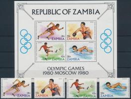 1980 Nyári Olimpia, Moszkva sor Mi 225-228 + blokk 9