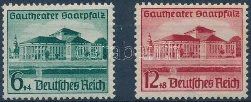 1938 Gautheater Saarpfalz sor Mi 673-674 (rozsda foltok)