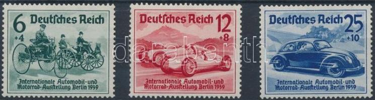 1939 Autó- és Motor kiállítás sor Mi 686-688