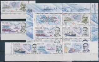 2000 Sarkvidék kutatók ívsarki sor Mi 788-792 + blokk 30