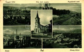 Ózd, Vasgyár, Római katolikus templom, Fogaskerekű vasút, Kohók