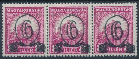 1931 Kisegítő bélyeg (I) IX-Vj. B 6f/8f hármascsík (45.000)
