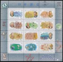 2000 XX. század, természettudományok kisív Mi 825-836