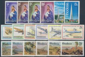 Rhodesia 1970-1978 62 db bélyeg, közte teljes sorok