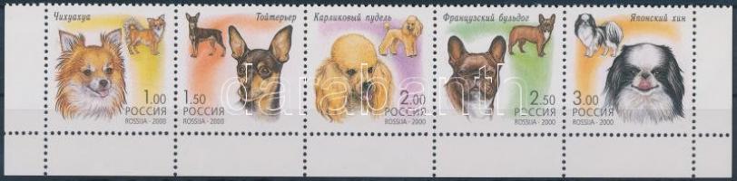 2000 Kutyák ívsarki ötöscsík + kisív Mi 837-841