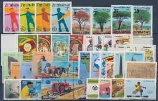 1980-1984 48 db bélyeg, közte teljes sorok és ívszéli értékek + 2 db blokk, 2 db stecklapon