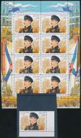 2002 Pawel Nachimov születésnapja ívsarki bélyeg + kisív Mi 988