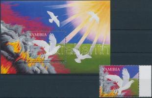 2004 100 éve kezdődött a gyarmati háború Német-Délnyugat-Afrikában ívszéli bélyeg Mi 1126 + blokk 61