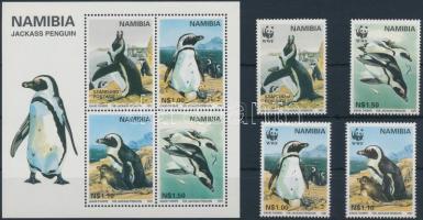 1997 WWF: pápaszemes pingvin sor Mi 837-840 + blokk 27
