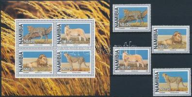 1998 Nagy macskák sor Mi 927-930 + blokk 37