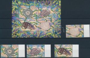 1998 Puhatestű tengeri állatok sor Mi 942-945 + blokk 39
