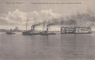 Gőzhajók, Hook of Holland, Drydock Priok, steamships