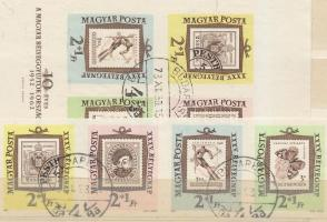 1962 Bélyegnap vágott négyescsík + vágott blokk (11.200)