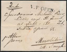 1830 Portós levél / cover with postage due V.F.OFEN - Mocsoládini