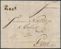 1789 Portós levél / unpaid cover Raab. - Pest