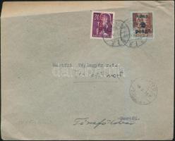 1946 (15. díjszabás) Távolsági levél Betűs (III) Ajánlás/24f + Csomag 5 kg/2P bérmentesítéssel
