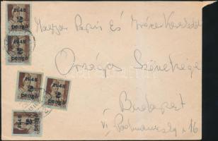 1945 (3. díjszabás) Távolsági levél Kisegítő (II) 5x2P/4f bérmentesítéssel