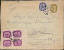 1946 (17. díjszabás) Helyi levél Milliós 2mP + 4x5mP + 50mP bérmentesítéssel