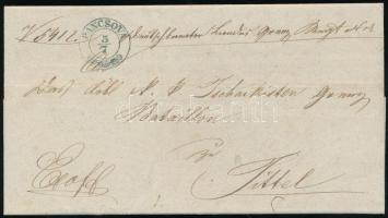 1848 Ex offo kék / blue PANCSOVA - Titel