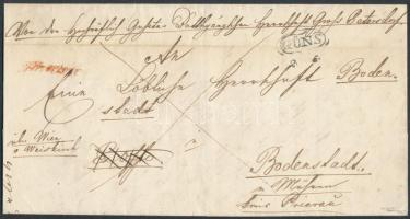 1846 Franco GÜNS + piros / red Franco - Bodenstadt Signed: Puschmann