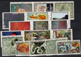1967 Művészetek kiállítás, festmények Mi 1319-1343