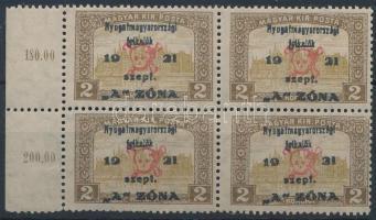 Nyugat Magyarország II. 2K ívszéli négyestömb (320.000) garancia nélkül / no guarantee