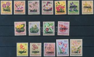 1960 Virágok felülnyomott sor 16 értéke Mi 11-28 (hiányzik Mi 12-13)