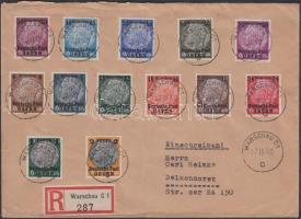 Generalgouvernement 1939 Mi 1-13 postatiszta + ugyanaz ajánlott levélen