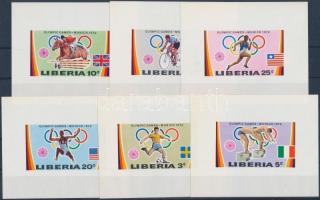 1972 Olimpia sor vágott blokkformában Mi 826-831
