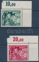 1938 Népszavazás ívsarki sor (apró beszakadás és betapadás az ívszélen) Mi 684-685