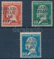1924 Forgalmi felülnyomott sor Mi 19-21