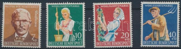 1958 Jólét: mezőgazdaság sor Mi 297-300