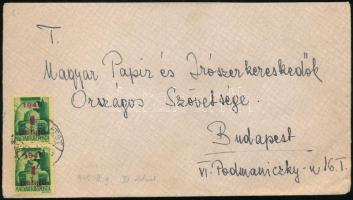 1945 (2. díjszabás) Helyi levél Kisegítő I. 2x1P/1P bérmentesítéssel