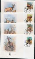 1991 WWF Antilopok sor Mi 1231-1234 4 FDC