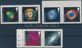 2007 Csillagászat 3 öntapadós pár (közte 2 ívszéli) Mi 2490-2495