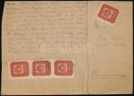 1946 (20. díjszabás) Távolsági szükség levelezőlap Milpengő 4x3.000mP bérmentesítéssel