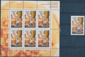2005 Europa CEPT gasztronómia bélyeg + kisív Mi 1261