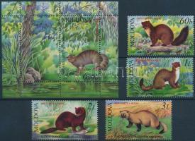 2006 Vörös könyv; Állat sor Mi 559-562 + blokk 36