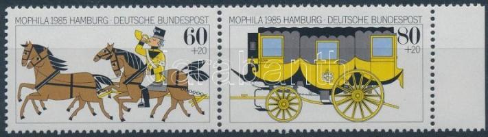 1985 MOPHILA 85 nemzetközi bélyegkiállítás ívszéli pár Mi 1255-1256