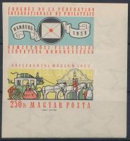 1959 FIP (II) vágott ívszéli szelvényes bélyeg (3.500)