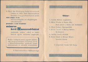 1950 Budai izraelita aggok és árvák II. Labanc úti intézményének meghívója
