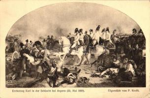 Erzherzog Karl in der Schlacht bei Aspern / Archduke Charles, Duke of Teschen, battle of Aspern, 5 Heller Ga. So. Stpl s: P. Krafft (EK)