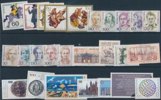 1986-1990 7 klf sor + 25 klf önálló érték 2 db stecklapon