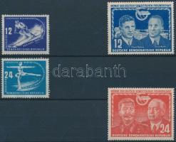 1950-1951 Téli sport bajnokság sor + Német-szovjet barátság sor Mi 246-247 + 296*-297