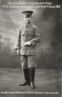 Fritz Lehmann, the youngest defender of the German Fatherland (born in 1900) slightly wounded at Dinant, Fritz Lehmann, a német haza legfiatalabb védője (született 1900-ban)  Dinantnál megsebesült